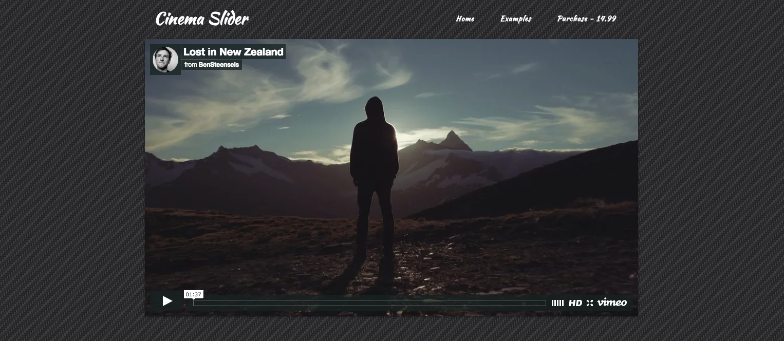 Cinema Slider RapidWeaver slider stack by 1LD