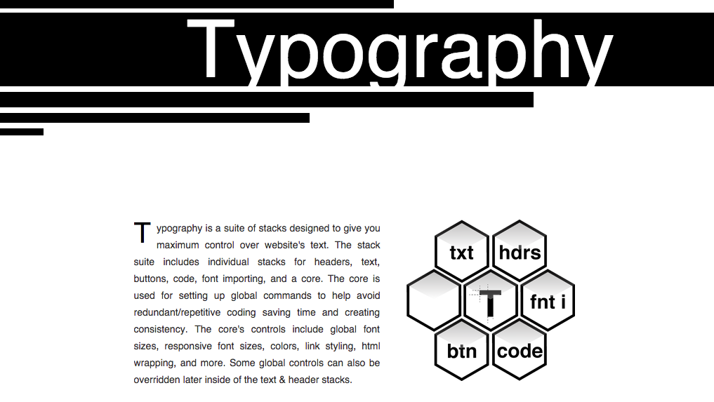 Typography RapidWeaver stack by 1LD