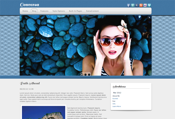Conversa RapidWeaver Theme Screenshot