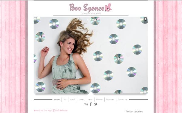 Boo Spence Canari Rapidweaver Theme Site