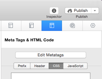Page Inspector - HTML - CSS