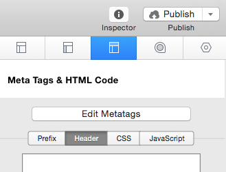 Page Inspector - HTML - Header