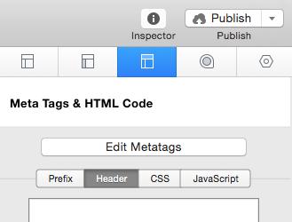 Page Inspector - HTML - Header
