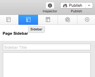 Page inspector sidebar tab