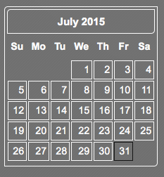 sidebar Calendar complete
