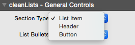 cleanLists Types