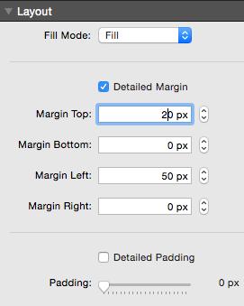 layout adjust margin