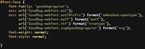 Font Squirrel Font Stylesheet Code