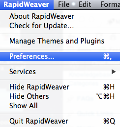 RapidWeaver Preferences