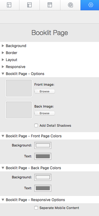 booklit page settings