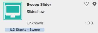 sweep slider stack