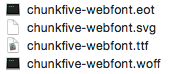 Font Files