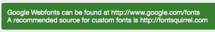 Font Import - Google Web Font Alert