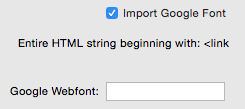 Font Import - Google Web Fonts