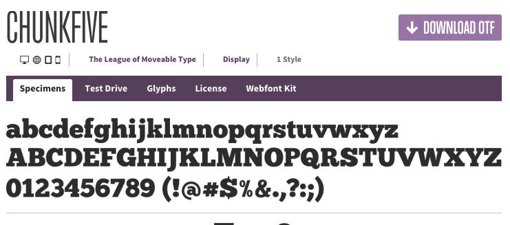 FontSquirrel ChunkFive Font