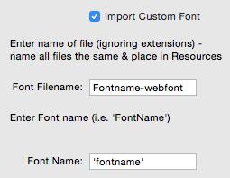 Importing Custom Font