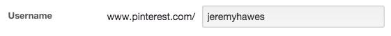 Pinterest Edit Profile URL