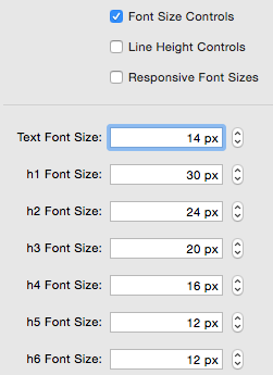 Typography - Font Size Controls