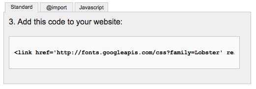 Web Font Link Code