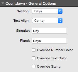 Countdown Clock Time Element Controls