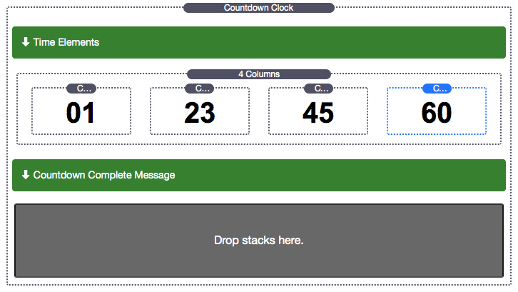 Countdown Clock with Columns Added