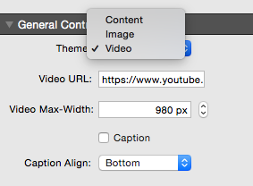 video select