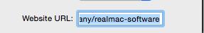 Website URL realmac