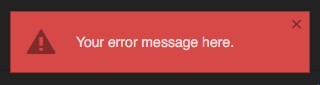 pop up error