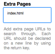 Extra Pages Field