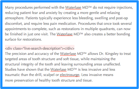 example description marker