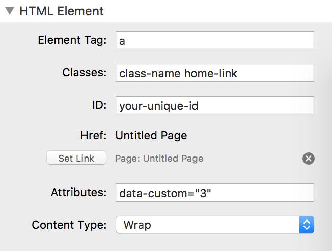 html settings