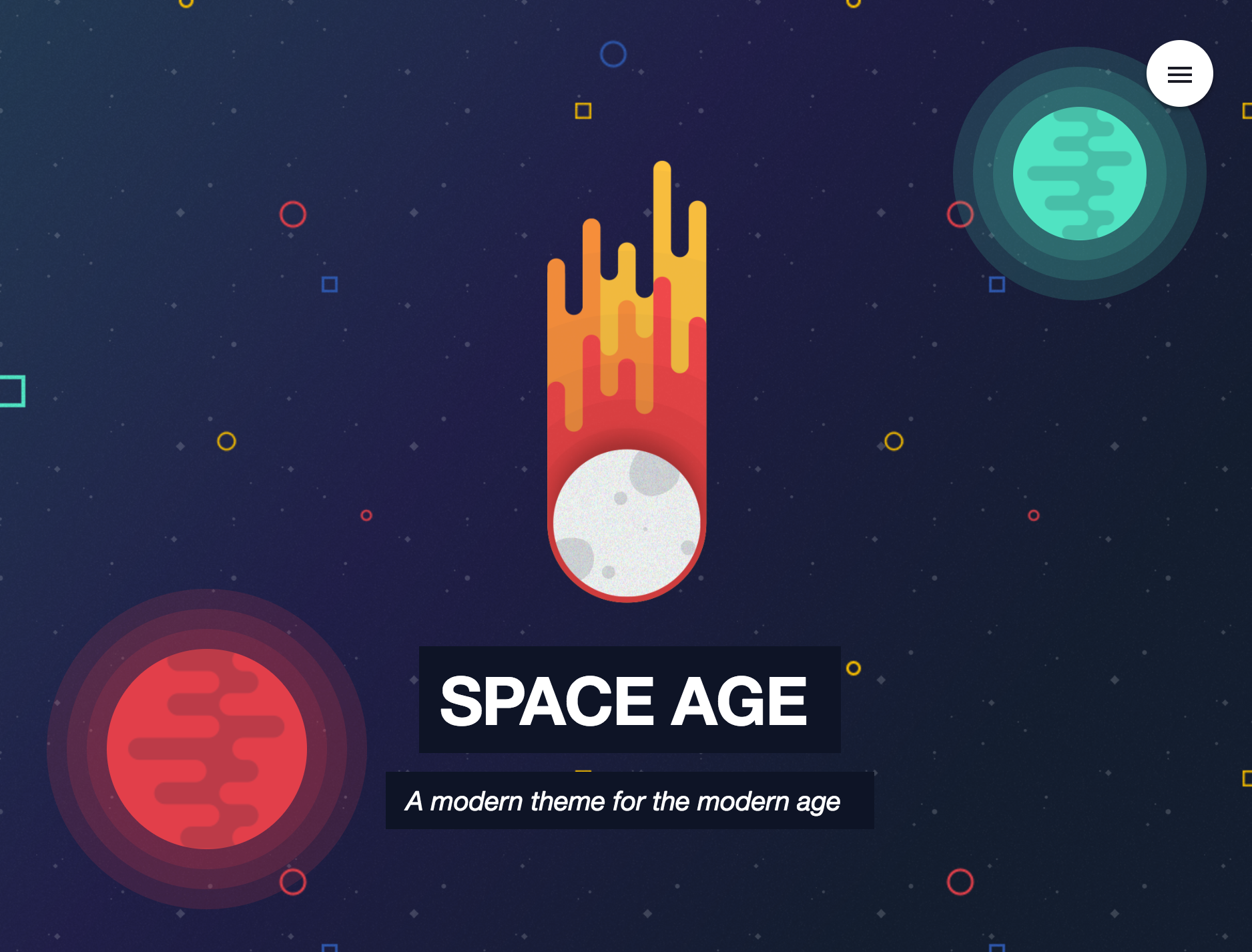 Space Age RapidWeaver Theme