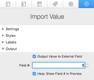 export to external field